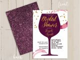 Winery themed Bridal Shower Invitations Wine themed Bridal Shower Invitation Wine themed Invitation