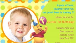 Winnie the Pooh Invites 1st Birthday Free Printable Winnie the Pooh Birthday Invitations