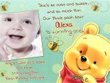 Winnie the Pooh Invites 1st Birthday Winnie the Pooh Birthday Invitations Printable Card