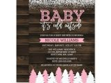 Winter Baby Girl Shower Invitations Baby It S Cold Outside Winter Girl Baby Shower Invitations