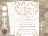 Winter Baby Girl Shower Invitations Girl Winter Wonderland Invitation Winter Baby Shower