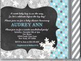 Winter Baby Girl Shower Invitations Winter Wonderland Baby Shower Invitations