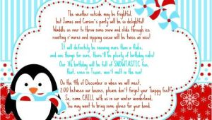 Winter Birthday Party Invitation Wording Our Scott Spot Birthday Winter Wonderland