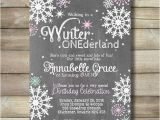 Winter Birthday Party Invitation Wording Winter Onederland Girl Birthday Party Invite Invitation