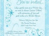 Winter Bridal Shower Invitation Wording Winter Snowflake Shower Invitation Baby Shower Instead