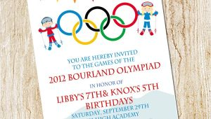 Winter Olympics Party Invitations Olympic Party Invitation Winter Olympics Birthday Invitation