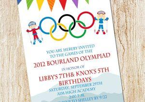Winter Olympics Party Invitations Olympic Party Invitation Winter Olympics Birthday Invitation