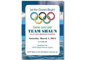 Winter Olympics Party Invitations Winter Olympics Birthday Invitation Printable Digital File