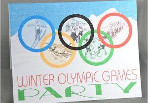 Winter Olympics Party Invitations Winter Olympics Custom Party Invitations Printed Set Of 8