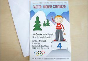 Winter Olympics Party Invitations Winter Olympics Party Ideas Moms Munchkins