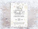 Winter themed Bridal Shower Invitations Printable Bridal Shower Invitations Winter Bridal Shower