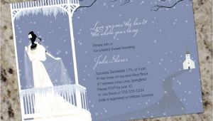Winter themed Bridal Shower Invitations Warms the Heart Winter themed Bridal Shower Invitations