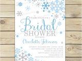 Winter themed Bridal Shower Invitations Winter Bridal Shower Invitation Printable Blue and Grey
