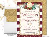 Winter themed Bridal Shower Invitations Winter Engagement Party Invitation Fall Bridal Shower