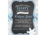 Winter Wonderland Baby Shower Invitation Wording Winter Wonderland Snowflake Baby Shower Invitation