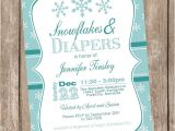 Winter Wonderland Baby Shower Invitations Templates Items Similar to Snowflake Baby Shower Invitation Winter