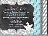 Winter Wonderland Baby Shower Invitations Templates Winter Wonderland Baby Shower Invitations