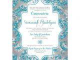 Winter Wonderland Quinceanera Invitations Quinceanera Invitation Winter Wonderland Turquoise
