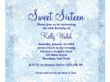 Winter Wonderland Sweet 16 Party Invitations Personalized Winter Wonderland Sweet 16 Invitations
