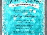 Winter Wonderland Sweet 16 Party Invitations Sweet 16 Winter Wonderland Glitter Lights Invitations