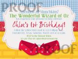 Wizard Of Oz Birthday Party Invitations Free Printable Wizard Of Oz Birthday Party Invitations
