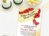 Wizard Of Oz Bridal Shower Invitations Wizard Of Oz Bridal Shower Invitation Glam Stiletto High