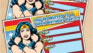 Wonder Woman Birthday Invitation Template Free Free Printable Wonder Woman Birthday Invitation