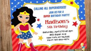 Wonder Woman Birthday Invitation Template Wonder Woman Party Invitation Wonder Woman by Cutepartyfairy