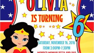Wonder Woman Party Invitation Template Wonder Woman Invitation Wonder Woman Clipart Birthday Party