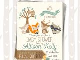Woodland Animal themed Baby Shower Invitations Sweet Woodland Baby Shower Invitation