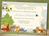 Woodland Animal themed Baby Shower Invitations Unique Ideas for Woodland Creatures Baby Shower