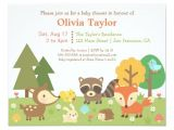 Woodland Animal themed Baby Shower Invitations Woodland Animal themed Baby Shower Invitations