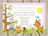 Woodland Animal themed Baby Shower Invitations Woodland Animals Baby Shower Invitations
