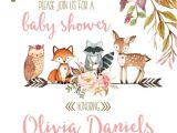 Woodland Animal themed Baby Shower Invitations Woodland Baby Shower Invitations Invitation for Woodland