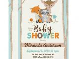 Woodland Animal themed Baby Shower Invitations Woodland Baby Shower Invitations