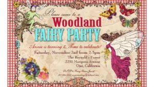 Woodland Fairy Party Invitations Woodland Fairy Party Invitation 5 Quot X 7 Quot Invitation Card