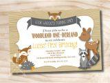 Woodland Onederland Birthday Invitations Woodland One Derland Birthday Party Invitation Digital