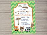 Woodland Onederland Birthday Invitations Woodland Onederland 1st Birthday Invitation Woodland