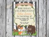 Woodland themed Birthday Invitations Woodland Animals Birthday Invitation Animal themed Birthday