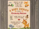 Woodland themed Birthday Invitations Woodland Baby Shower Invitation Woodland Animals Shower