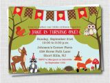 Woodland themed First Birthday Invitations Woodland Animals Birthday Invitation Woodland by