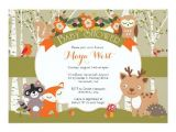 Woodland themed Party Invitations Woodland Baby Shower Invitations Babyshowerinvitations4u