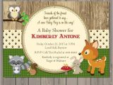 Woodland themed Party Invitations Woodland Baby Shower Invitations forest Animals Shower
