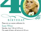 Wording for 40th Birthday Party Invitation 40th Birthday Invitation Wording Bagvania Free Printable