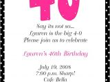 Wording for 40th Birthday Party Invitation 40th Birthday Party Invitation Wording Baby Shower for
