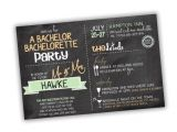 Wording for Bachelor Party Invitations Bachelor Bachelorette Party Invitation Customizable Colors