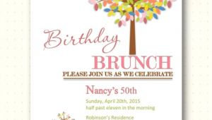Wording for Birthday Brunch Invitations Birthday Brunch Invitations