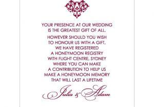 Wording for Wedding Invitations Money Instead Of Gifts Proper Wedding Invitation Wording Wedding Invitation