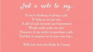 Wording for Wedding Invitations Money Instead Of Gifts Wedding Invitation Elegant Wording for Wedding