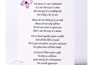 Wording for Wedding Invitations Money Instead Of Gifts Wedding Invitation Wording Money Instead Of Gifts